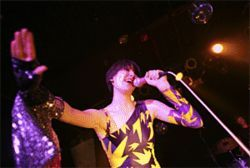 If only Karen O had throttled someone with that hand,  then the Yeah Yeah Yeahs show would have been  perfect.