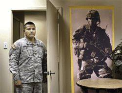 Staff Sergeant Antonio Salas, a 35-year-old recruiter from an immigrant family in McAllen, Texas, says he joined the Army at 18 when he saw his peers getting drawn into gangs and drugs.