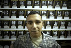 Corporal Phillip Leal, 23, did a tour in Iraq and works as a recruiter in Farmers Branch/Carrollton.