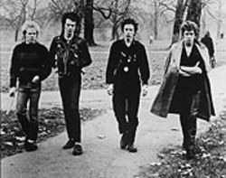 The sex machine: The Sex Pistols, left to right--Paul Cook, Sid Vicious, Johnny Rotten, and Steve Jones